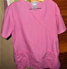 SB Scrubs Pink Uniform Top W/ Tiebacks Small Very Good Condition *Reduced*