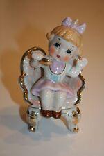 "Vintage Porcelain Little Miss Muffet Storybook Figurine 8 1/4"" tall"