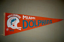 """1972 Miami Dolphins World Championship Pennant Dated/Offical NFL 30"""""""