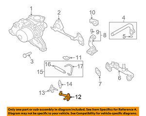 KIA OEM 03-06 Sorento 3.5L-V6 Water Pump-By-pass Pipe 2565039800