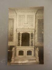 jewish judaica antique photo postcard synagogue sefer torah scroll book rabbi