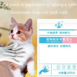 2 Pieces of Disposable Massage Gloves Wet Wipes Pet Baths Cleaning Towels