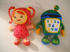 "Fisher Price UMIZOOMI plush MILLI 9"" doll & BOT 9"" Robot lot of 2             A9"