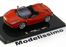 1:43 Hot Wheels Elite Ferrari 458 Spider 2011 red