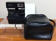 Vintage Polaroid 600 Flash Camera UK Made Faux Leather Camera Bag TESTED Black