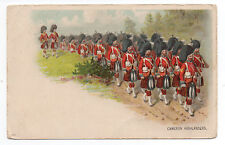 1905 Great Britain Postcard showing the Cameron Highlanders