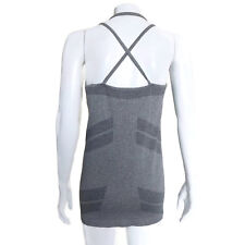 FABLETICS Gray Cross Strap Tank Top Yoga Gym Run approx size small - S
