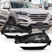 For 16-18 Hyundai Tucson Front Bumper Fog Light Lamp+Frame Replacement Assembly