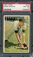1957 Topps BB Card #372 Norm Zauchin Boston Red Sox PSA NM-MT 8 !!!!