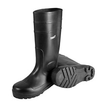 Rubber Kneed Boots Agriculture safe Black Pvc 15-In Mens Size 10 waterproof