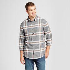 dc1a0d9481dd Men s Goodfellow   Co Railroad Gray Heavyweight Flannel Shirt