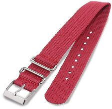 NEW-TIMEX 20MM WEEKENDER RED NYLON REPLACEMENT BAND,STRAP STEKO LTD T7B897