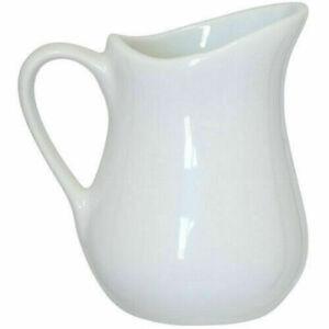Apollo Ceramic Porcelain White Measuring Jug 80ml Milk Cream Pourer Churn Jug