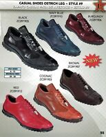 Los Altos Men's Style #9 Causal Genuine Ostrich Leg Lace Up Shoes