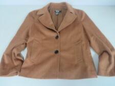 Dkny Wool/angora/cashmere Detailed stitch Blazer Brown Size 2 Mint