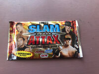 1x Sealed PACK Topps SlamAttax Trading Cards RAW, SMACKDOWN & ECW Wrestling