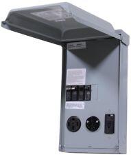 100 Amp 3-Space 3-Circuit 240-Volt Unmetered RV Outlet Box 50/30/20 Amp GCFI