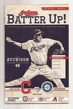 Cleveland Indians program July 2014 series 16 Scott Atchison on cover vs Mariner
