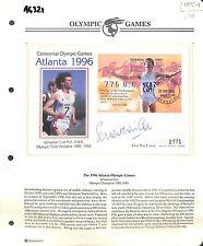AG321 1995 UGANDA Kampala FDC Olympics Sebastian Coe Autograph