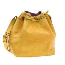 LOUIS VUITTON Epi Petit Noe Shoulder Bag Yellow M44109 LV Auth yk221