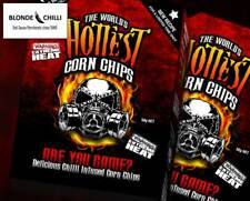 1 BOX of The World's Hottest Corn Chips! SUPER XXX HOT Chilli Seed Bank /reaper