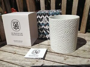 Diptyque Le Bazar Du photophore plumage ~ white biscuit candle holder ~ Read