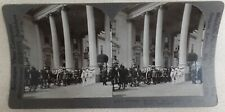 1923 Warren Harding Funeral Stereoview Card #6 Caisson Leaving WH for US Capitol