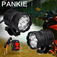 2x 60W Motorcycle Headlight LED Driving Fog Spotlight Light W /Switch Universal