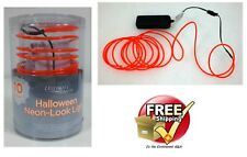 Halloween Battery Operated ORANGE 10 Foot Neon String Wire Strobe Light Decor