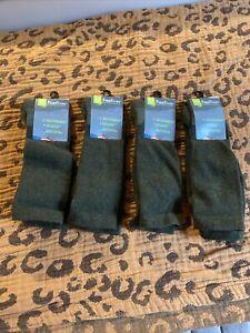 NWT Fox River 4 Pairs Green Wool Socks, Thin Tall Calf, M 9-11.5 W 10-12.5