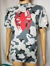 Marvel Spiderman Under Armour Camo Compression Shirt Heat Gear Mens XL