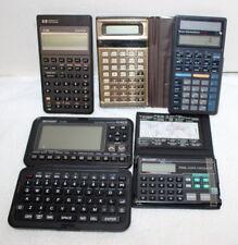 Vintage Calculator Lot ~ Sharp, Casio, HP, Texas Instruments ~ 6 Total