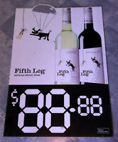 Vintage Fifth Leg Wines Corflute Advertising Display Sign