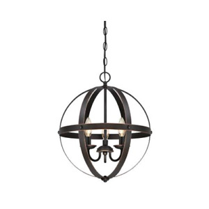 Westinghouse Stella Mira Three-Light Indoor Chandelier,Oil Rubbed Bronze Finish