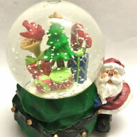 """Musical Santa Claus Snow Glass Dome """"We Wish You A Merry Christmas"""" SALE"""