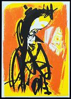 DDR-Kunst/Nachwendezeit, 1991. Serigraphie Wolfgang HENNE (*1949 D) handsigniert