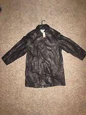 womens Eddie Bauer lambskin leather jacket black size m