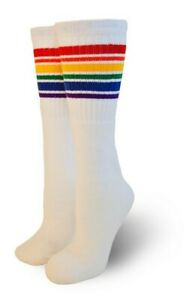Pride Socks Unisex Rainbow Knee High Tube Socks Fearless
