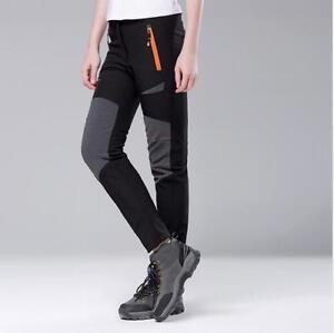 Womens's Ski Snow Pants Soft Shell Trousers Waterproof Warm Fleece Insulated