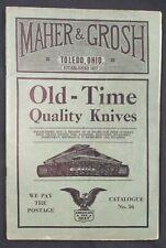 New listing Vintage 1937 Maher & Grosh Cutlery Catalog Knives Tools Razors Binoculars Axes