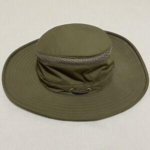 Tilley The Airflo Hat Olive Green Size 7 1/8 Sun Safari Nylon Travel LTM6