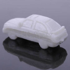 5pcs DIY White Car Traffic Model 1:250 Scale Sand Table Building Materials Toys