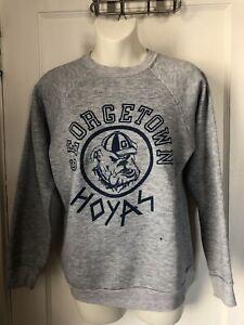 Vintage Georgetown University Hoyas NCAA Crew Neck Sweatshirt Mens Size S