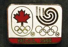 1998 SEOUL Korea Rare Olympic CANADA NOC STAFF limited  TEAM delegation  pin