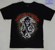 SOA Sons of Anarchy Black T-shirts size S -  NEW