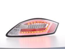 Coppia fanali posteriori LED  lightbar Porsche Boxster 987 anni: 04-09 cromati