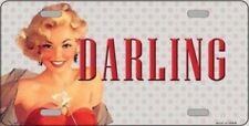 PLAQUE DE VOITURE AMERICAINE- PIN UP VINTAGE / DARLING - NEUVE DECORATION USA