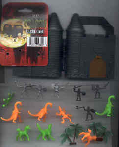 1/72 Scale Medieval Knights & Dragon Figures - Castle Palm Trees (Airfix Revell)