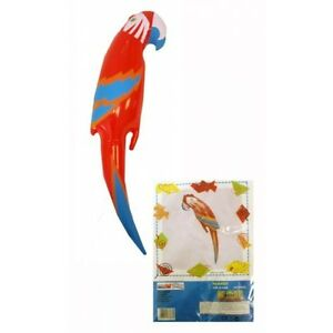 Inflatable Parrot 48cm Blow Up Hawaiian Tropical Fancy Dress Decoration Toy Game
