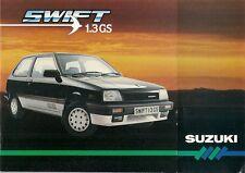 SUZUKI SWIFT 1985 Regno Unito delle vendite sul mercato opuscolo 1.3 GS 1.0 GA GL